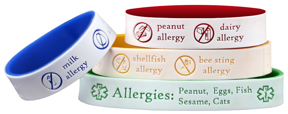 Allergy Bracelet Instead Of Have To Wear It Available All Ages Medical Conditions And Phone Numbers Are Always Given Priority If E Is