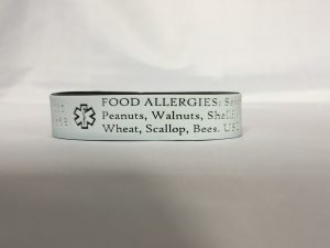 allergy id bracelet, allergy bracelet, food allergy bracelet