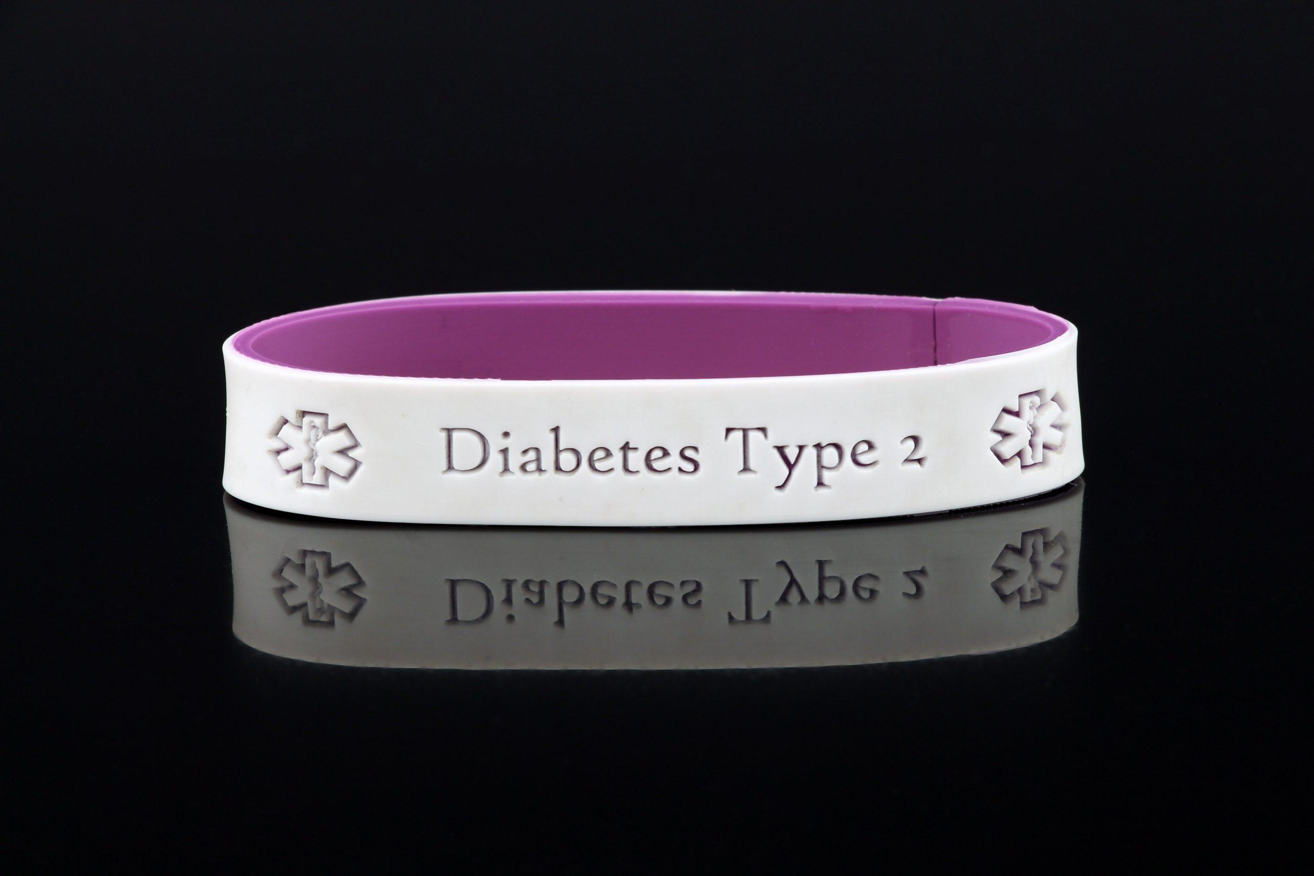 Diabetes Medical Bracelet, Type 1 Diabetes, Type 2 Diabetes